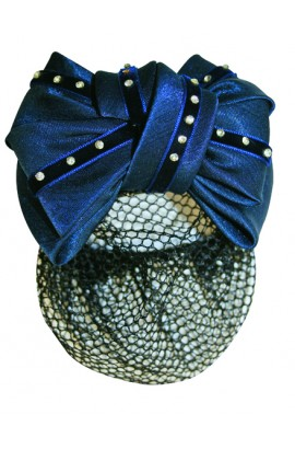 hair net -imitation diamonds blue-