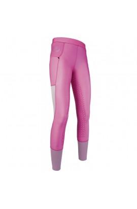Kids riding leggings with silicon seat -Mesh- pink