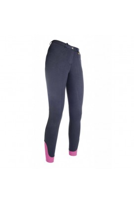 Kids riding breeches with silicone seat -Kate- deep blue