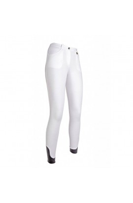 Kids riding breeches with silicone seat -Kate- white