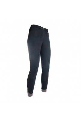 Kids riding breeches with silicone seat -Kate- black