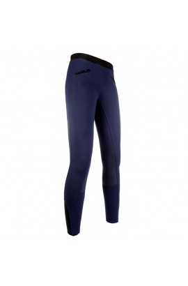 riding leggings with silicone seat -starlight- deep blue