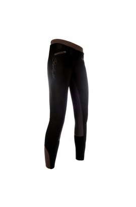 riding leggings with silicone seat -starlight- brown