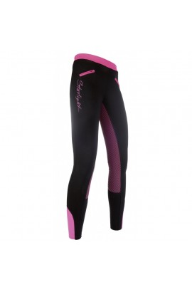 riding leggings with silicone seat -starlight pink-