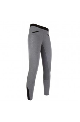 riding leggings with silicone seat -starlight- grey