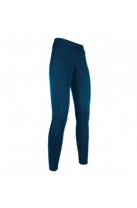 Riding leggings with silicone seat -Yvi- blue