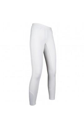 Riding leggings with silicone seat -Yvi- white