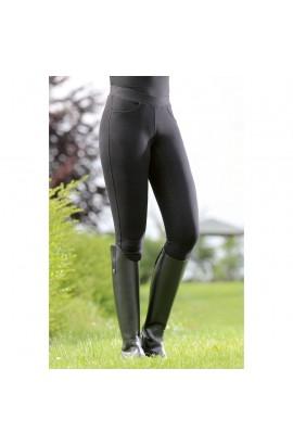 Riding leggings with silicone seat -Yvi- black