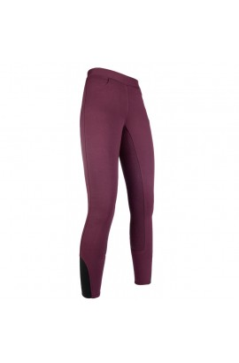 Riding leggings with silicone seat -Yvi- wine red