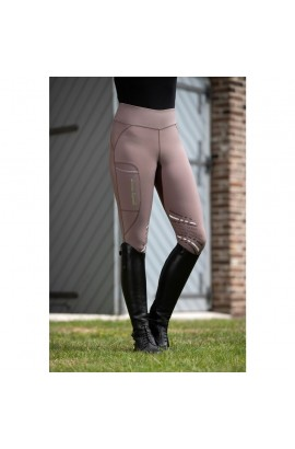 bi-elastic riding leggings -elemento brown-