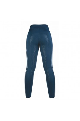 Riding leggings with silicone seat -Equilibrio- style blue