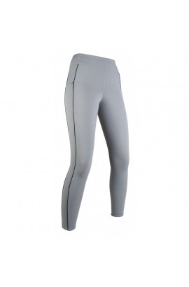 Riding leggings with silicone seat -Equilibrio- style grey