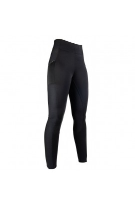 Riding leggings with silicone seat -Mesh Style- black