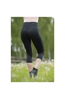 3/4 riding leggings with silicone seat -mesh-