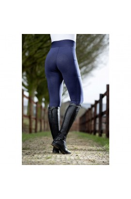 Riding leggings with silicone seat -Highwaist Style- deep blue