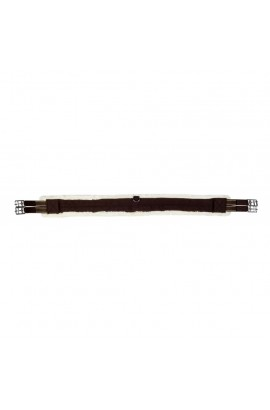 Girth with synthetic fur -teddy- brown/cream-