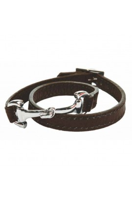 bracelet -bit dark brown-