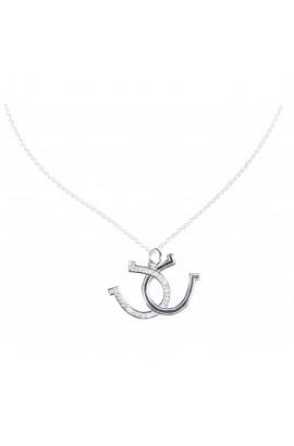 necklace -silver horseshoe-
