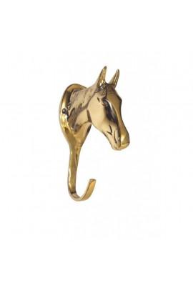 Brass bridle hook -Horse Head-