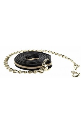 ! Lead rope with chain -Soft- black