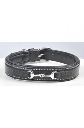 leather dog collar -bit-