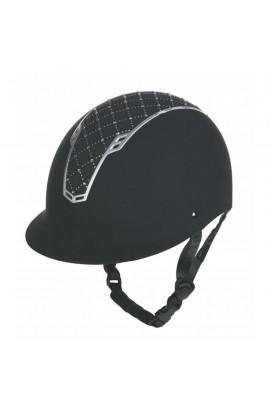 Glittering riding helmet -Linz Style- silver