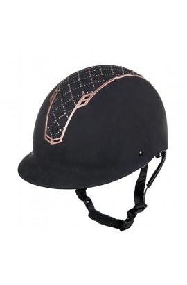 Glittering riding helmet -Linz Style- rosegold