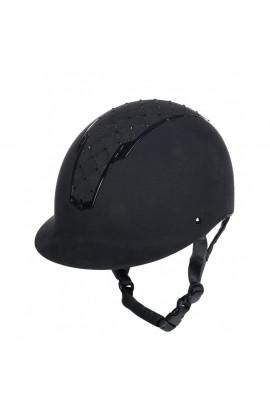 Glittering riding helmet -Linz Style- black