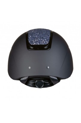 riding helmet with glittering panel -glamour multicolour-