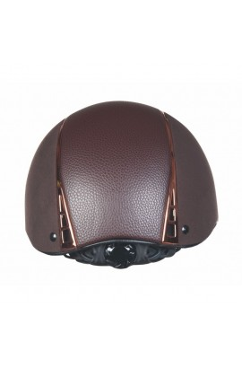 ! Riding helmet -Wien- brown-rosegold