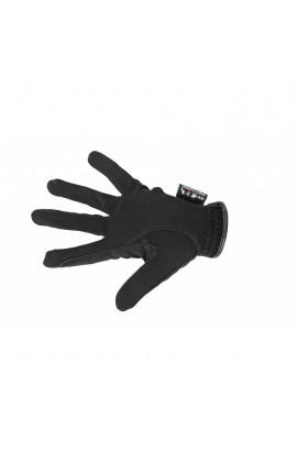 kids riding gloves -nubuk look black-