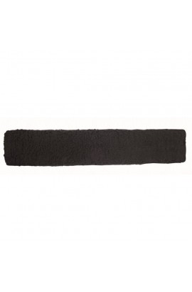 Girth sleeve -faux wool- black
