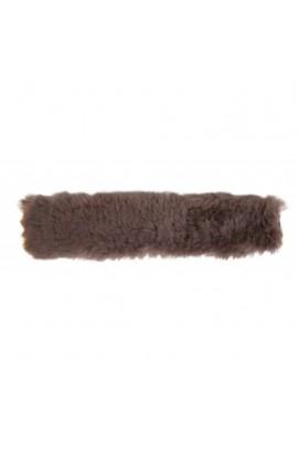 lambskin cover -nose&poll dark brown-
