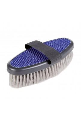 Body brush -Rhinestones- blue