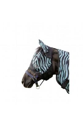 anti-fly mask -zebra aqua-