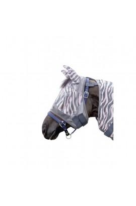 anti-fly mask -zebra rose-