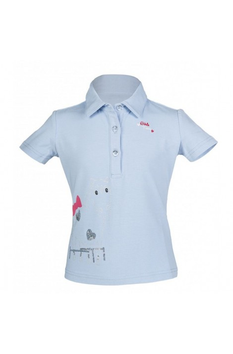 kids polo shirt -piccola smokey blue-