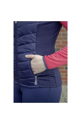 combined thin riding vest -basel-style-deep blue