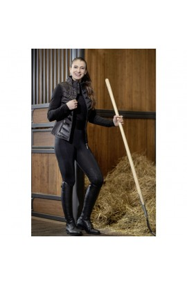 Combined thin riding vest -Basel Style- anthracite