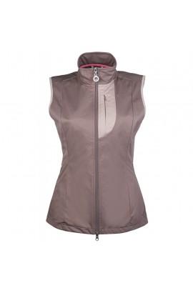 softshell riding vest -elemento brown-