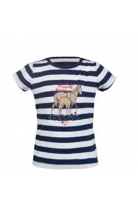 kids t-shirt -striped navy-