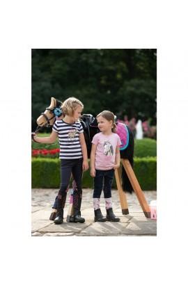 kids t-shirt -soft pink horse-