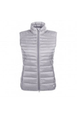 !Quilted vest -Lena- ystone grey
