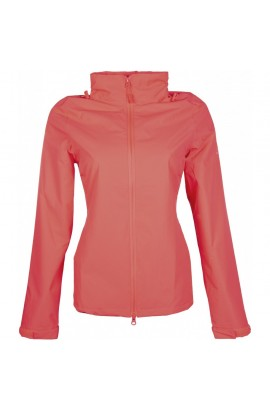 !Rain jacket -Rainy Day- neon coral