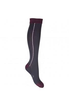Riding socks -odello- brown-grey