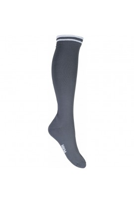 !Riding socks -lurex- deep grey
