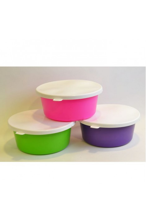 5L bowl with lid -gewa-lime-
