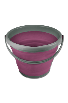 10 l foldable bucket -magenta-