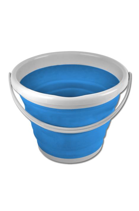 10 l foldable bucket -azure blue-