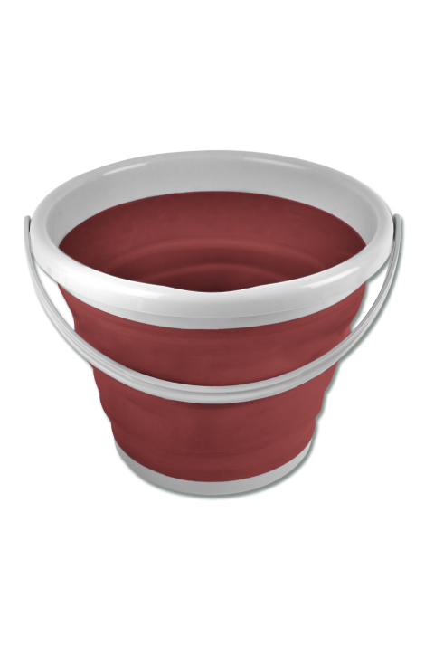 10 l foldable bucket -rust red-
